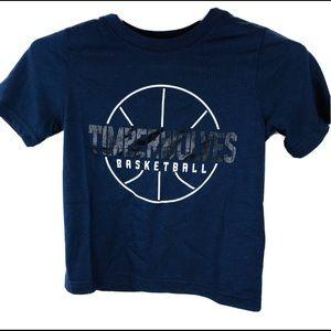 NBA Minnesota Timberwolves T Shirt Boys S 4 Blue